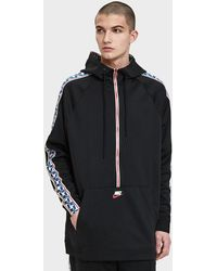Nike - M Nsw Taped Half Zip Hood Poly - Lyst