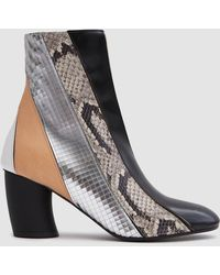 Proenza Schouler - Curved Heel Leather Boot - Lyst