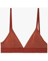 The Nude Label - Triangle Bra In Rust - Lyst