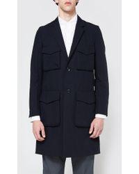 Undercover - Coat In Navy - Lyst