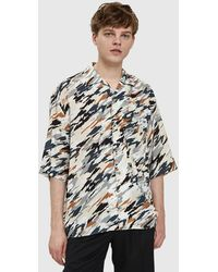 Lemaire - Convertible Collar Shirt In Multicolor - Lyst