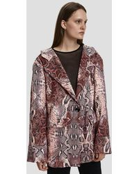 House Of Sunny - Relaxed Python Blazer - Lyst