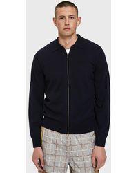 Dries Van Noten - Zip-up Cardigan In Navy - Lyst