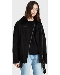 Just Female - Chin Shearling Jacket - Lyst