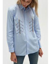 Bruta - Rowers Shirt In Light Blue - Lyst