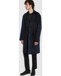 Stussy - Stripe Overcoat - Lyst