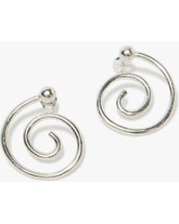 Young Frankk - Silver Spiral Earrings - Lyst