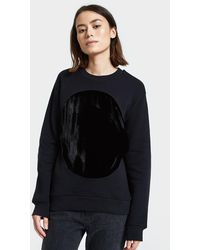 Correll Correll - Velvet Circle Sweatshirt In Black - Lyst