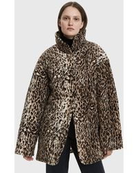 Collina Strada - Shelter Faux Leopard Jacket - Lyst