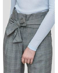 Just Female - Edith Trousers In Check - Lyst