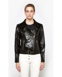 VEDA - Jayne Glossy Jacket In Black - Lyst