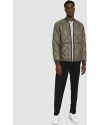 Stone Island - Garment Dyed Quilted Micro Yarn Down Bomber Jacket - Lyst