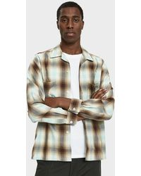 Beams Plus - Open Collar Ombre Check Shirt - Lyst