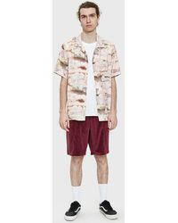 Stussy - Cloud And Birds Shirt In Peach - Lyst