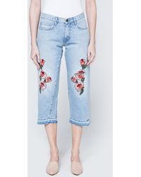 Frankie - Relaxed Baggy Embroidered Crop - Lyst