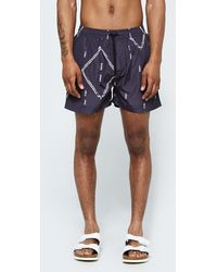 Insted We Smile - Persian Track Swim Short In Black - Lyst