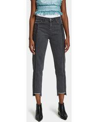 Just Female - Jo Jeans In Grey Vintage Denim - Lyst