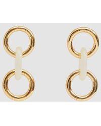Lizzie Fortunato - Triplet Link Earrings In Ivory - Lyst