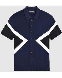 Neil Barrett - Iconic Modernist Refined Tecno Knit Button-up Polo Shirt - Lyst