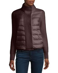 Moncler - Maglione Quilted/tricot Cardigan Jacket - Lyst