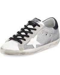 Golden Goose Deluxe Brand - Superstar Sparkle Low-top Sneakers - Lyst