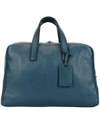 Giorgio Armani - Men s Deer Leather Carryall Duffel Bag - Lyst aa79921cc6
