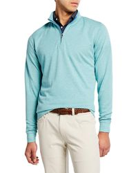 Peter Millar - Men's Crown Comfort Interlock Zip Sweater - Lyst