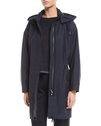 Loro Piana - Techno-wool Hooded Anorak Coat - Lyst