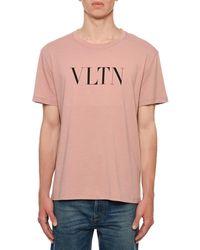 Valentino - Men's Vltn Logo Typographic T-shirt - Lyst