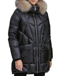 Andrew Marc - Mckenna Lightweight Down-filled Parka W/ Detachable Fur - Lyst