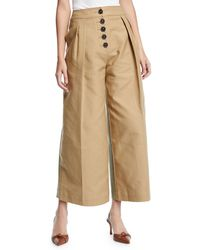 Rejina Pyo - Brodie Pleated Cropped Wide-leg Trousers - Lyst