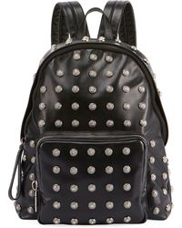 Balmain | Men's Studded Leather Backpack | Lyst