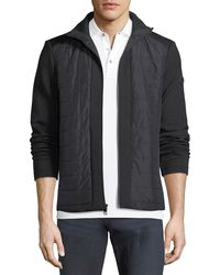 Michael Kors - Quilted Zip Jacket With Neoprene Combo - Lyst