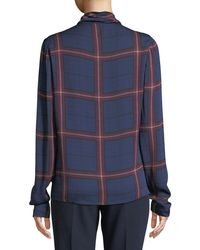 Camilla & Marc - Alaine Cowl-neck Top In Check - Lyst