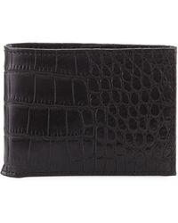 Neiman Marcus - Slim Bi-fold Wallet - Lyst