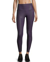 Onzie | High-rise Textured Performance Leggings W/ Mesh | Lyst
