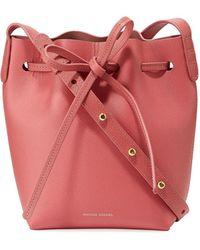 Mansur Gavriel - Mini Mini Saffiano Leather Bucket Bag - Lyst