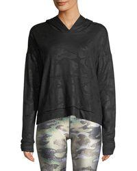 Terez - Camo Foil Printed Cross-back Hoodie Sweatshirt - Lyst