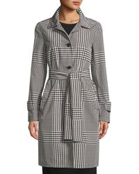 ESCADA - Patchwork Houndstooth Trench Coat - Lyst