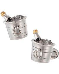 Jan Leslie | Sterling Silver & Crystal Quartz Champagne Bucket Cuff Links | Lyst