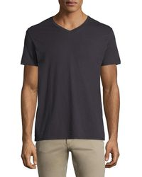Vince - Short-sleeve V-neck Pima Jersey T-shirt - Lyst