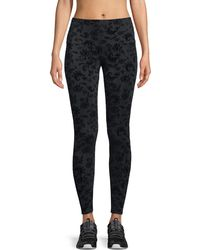 Onzie - High-rise Flocked Leggings - Lyst