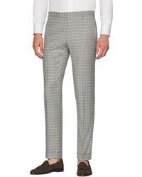Zanella Men's Parker Flannel District Check Wool Pants - Gray