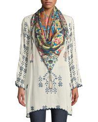 Johnny Was - Xandre Stitched Rayon Georgette Long Tunic - Lyst