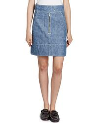 Isabel Marant - Natalia High-waist Cargo Pocket Chambray Skirt - Lyst