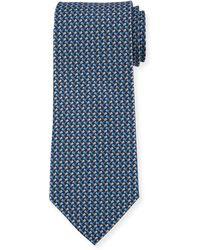 Ferragamo   Flag-pattern Silk Tie   Lyst