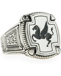 Konstantino - Men's Pegasus Square Ring Size 10 - Lyst