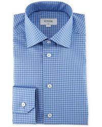 Eton of Sweden - Check-print Cotton Dress Shirt - Lyst
