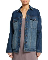 Eileen Fisher - Relaxed Denim Jacket - Lyst