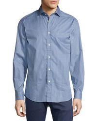 Ralph Lauren | Striped Twill Cotton Shirt | Lyst